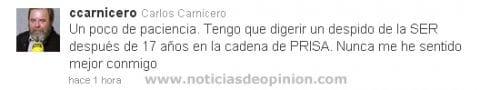 carlos carnicero despedido de la cadena SER twitter