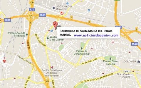 Asesinato en la Iglesia de Santa María del Pilar Chamartin Madrid