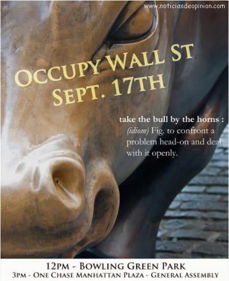 Indignados acampan en las bolsas y Wall Street #tomalabolsa