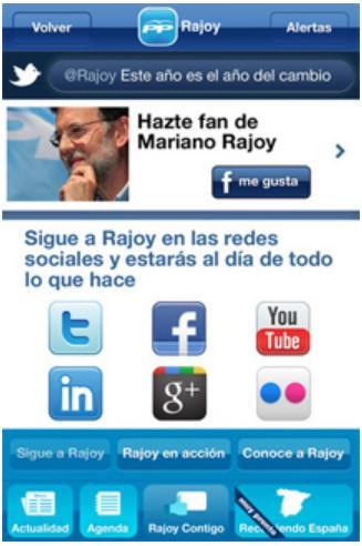 Descargar gratis la aplicacion de Rajoy para iPhone iPad Android del PP