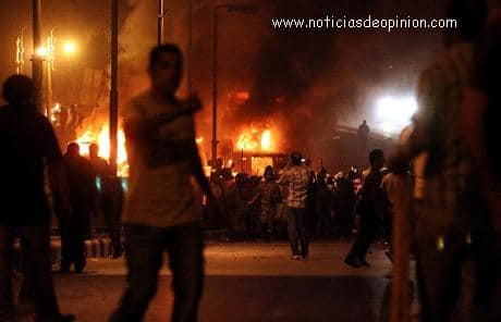 Disturbios en Egipto El Cairo toque de queda