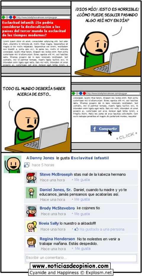 Cyanide and happiness en español y Facebook