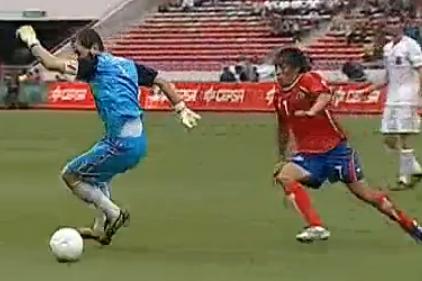 Error cantada pifia de  Casillas contra Costa Rica