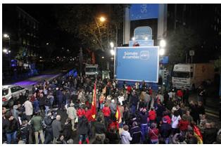 Resultados de las elecciones 20N Fiesta en Genova